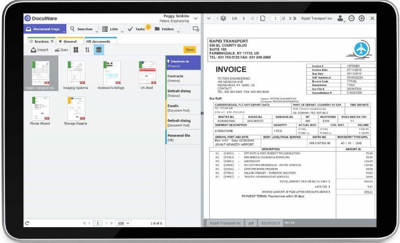interface simple ged docuware